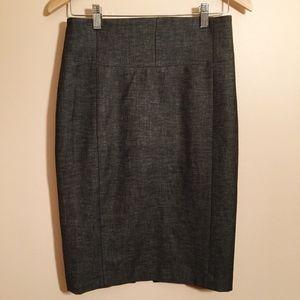 Express Pencil Skirt Straight High Waisted Gray 4